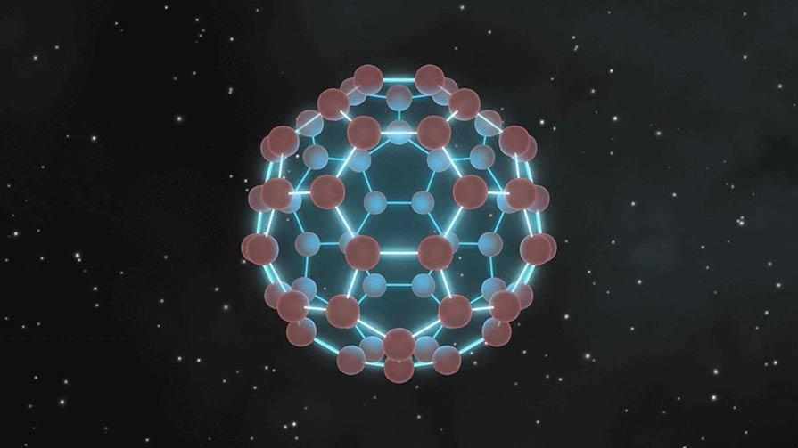 An artist's rendition of a buckyball