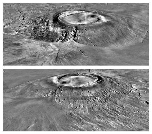 Major Martian Volcanoes from MOLA - Arsia Mons