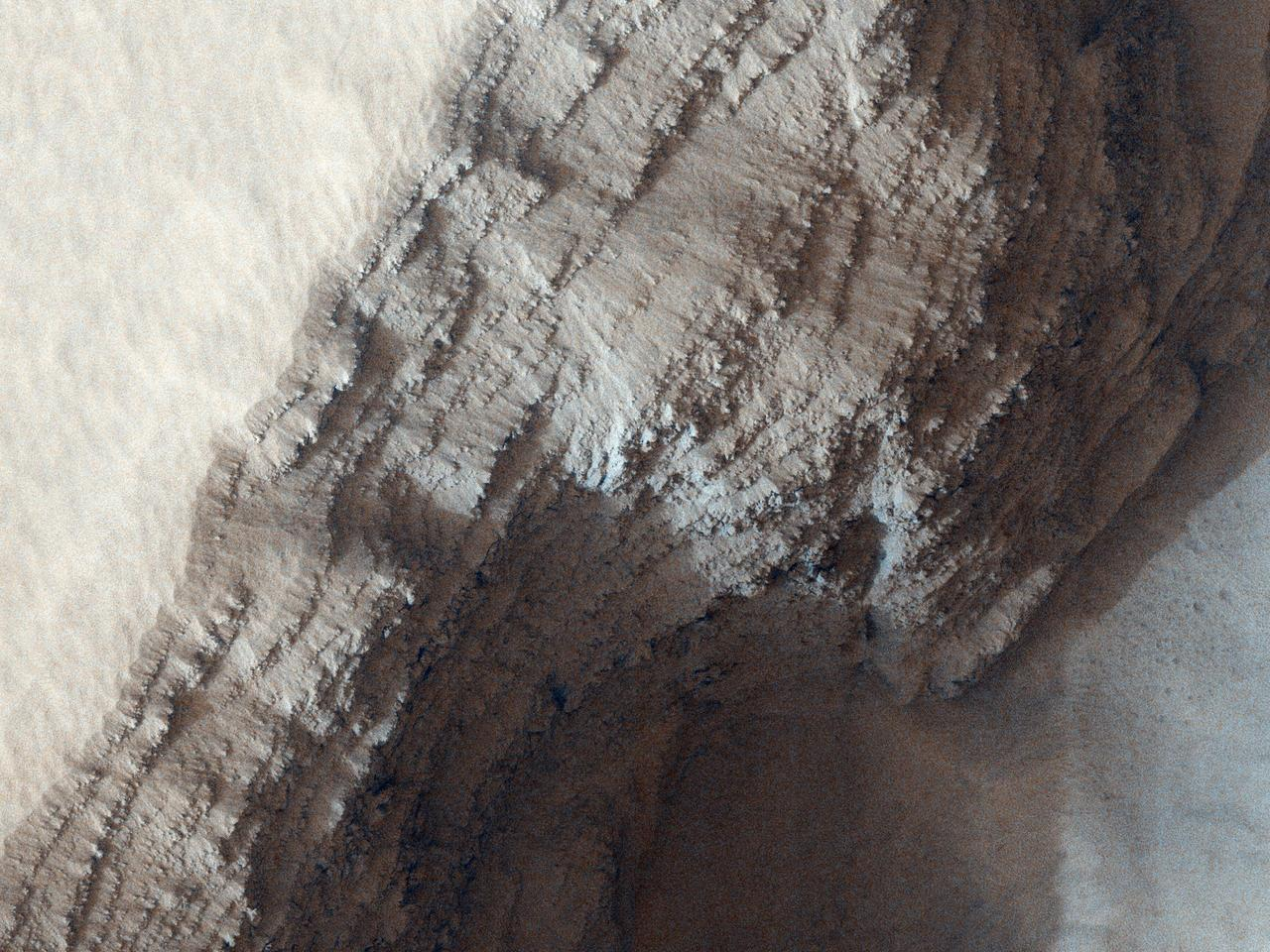 Layers in Arsia Mons Volcano