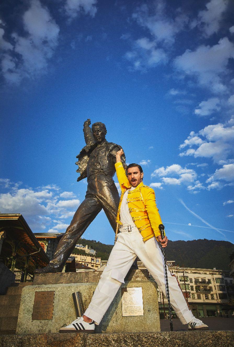 Ranveer Singh pays tribute to legendary Rockstar Freddie Mercury in Montreux