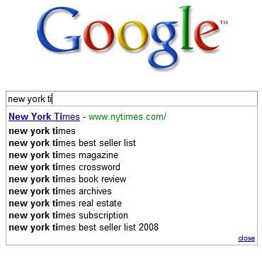 Google-search-suggestions