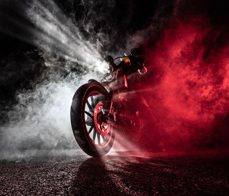 Motorbike-at-night
