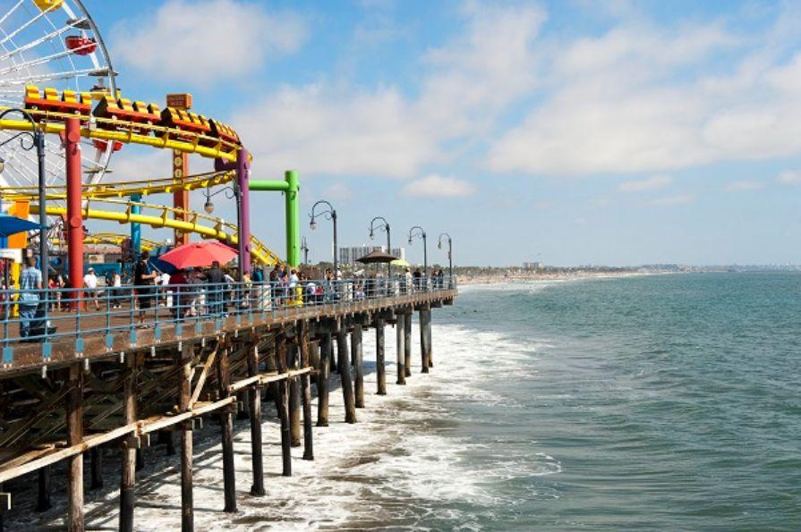 Santa-Monica-Pier-and-Beach-California