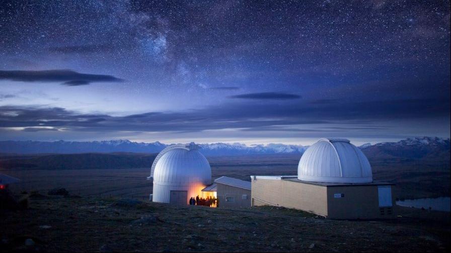 The Mt John Observatory in Tekapo is within the Aoraki Mackenzie International Dark Sky Reserve