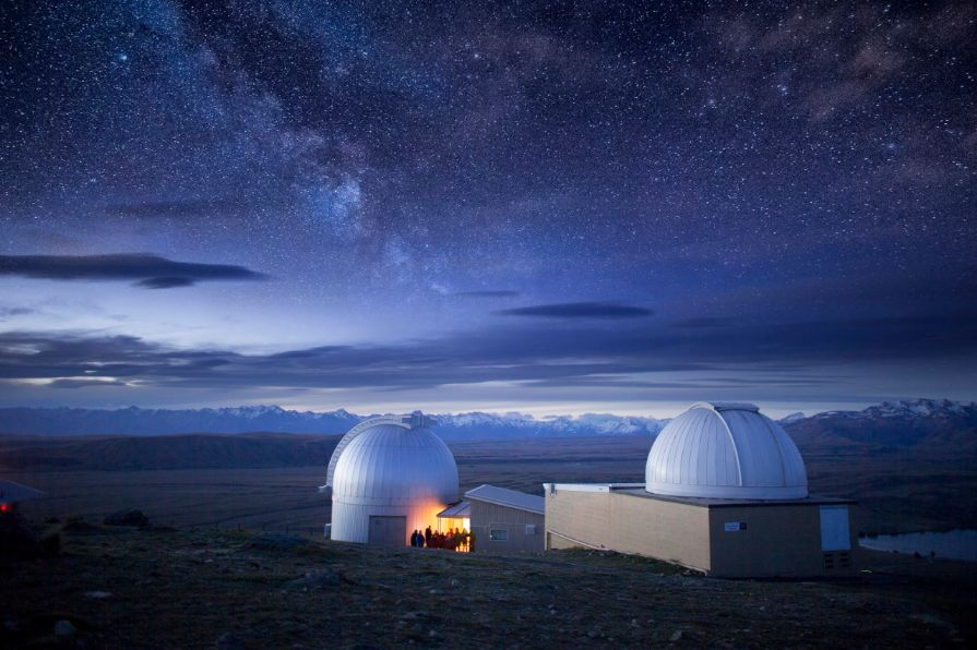 The Mt John Observatory in Tekapo is within the Aoraki Mackenzie International Dark Sky Reserve