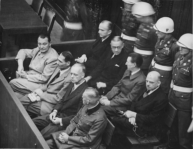 Rudolf Hess_Defendants_in_the_dock_at_the_Nuremberg_Trials