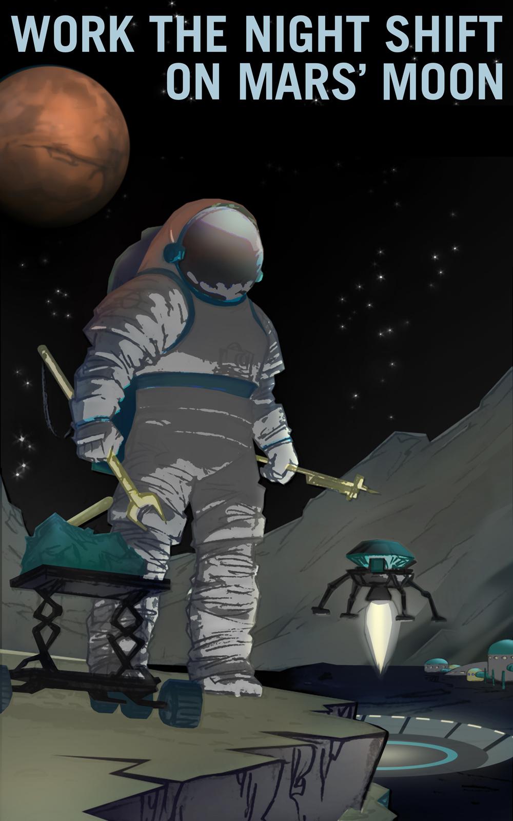 Work the Night Shift on Martian Moon Phobos